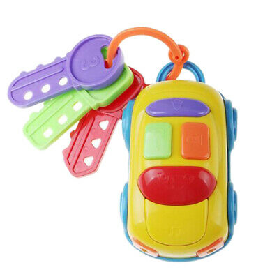 Musical Car Key Toy Baby Early Education Kids Pretend Play