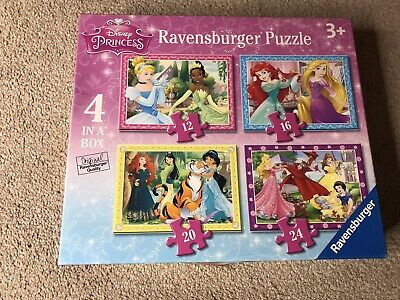 Ravensburger Disney Princess - 4 In A Box Jigsaw Puzzle Kids