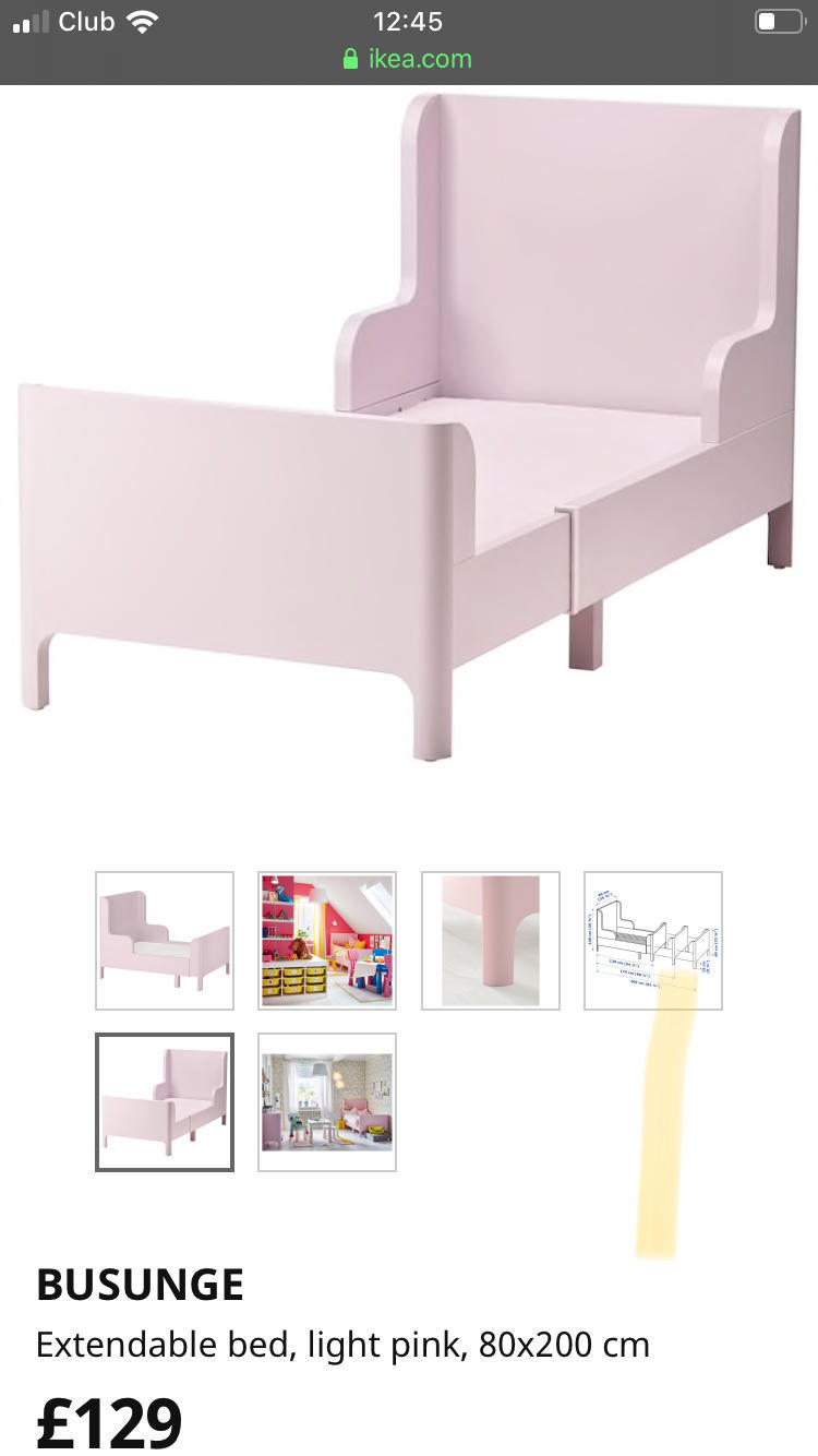 Ikea kids bed and bed tent