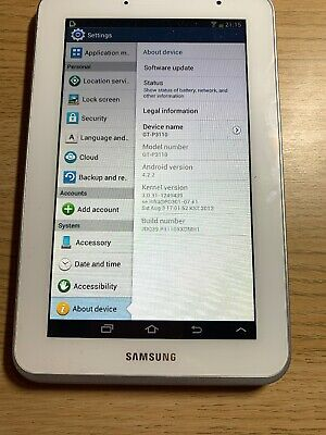 Samsung Galaxy Tab 2 GT-PGB, Wi-Fi, 7 inch - White And