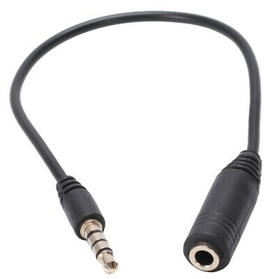 3.5mm Male to 3.5mm Female 4 Pole Adapter Converter Audio