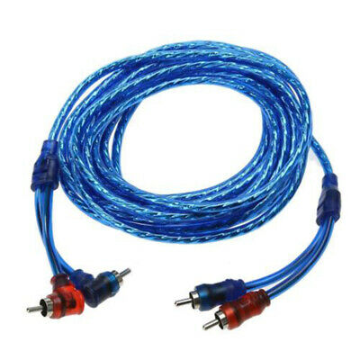 5M 2 Rca To 2 Rca Plug Car Stereo Audio Copper Cable System