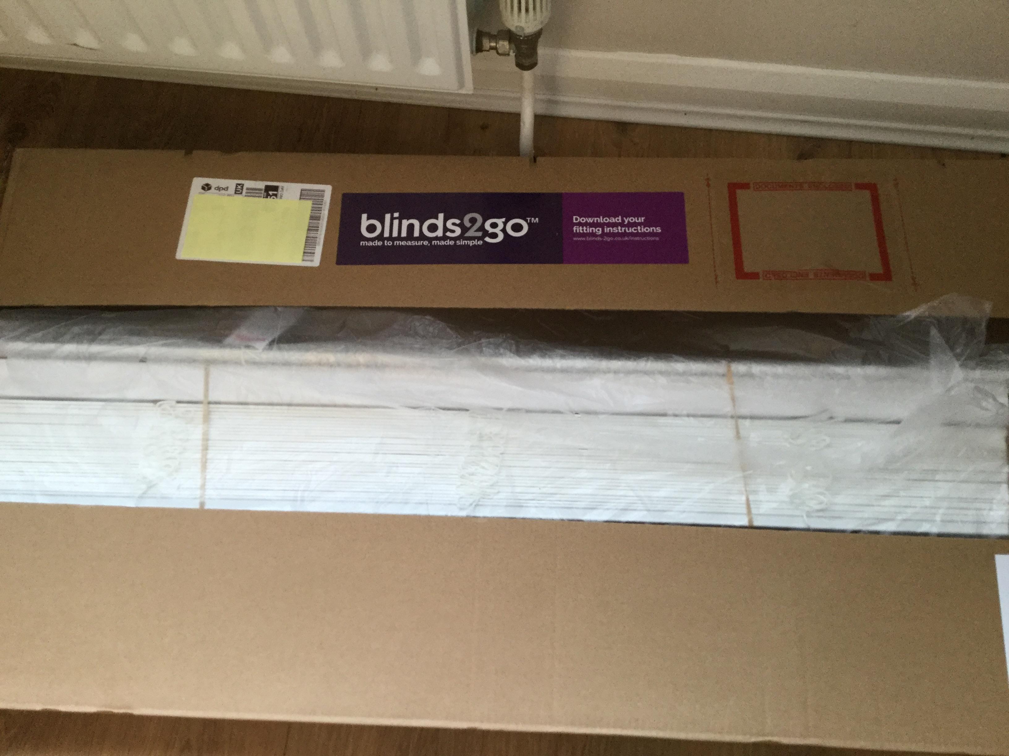 Bright White wooden Blind brand new still in box 50mm slat