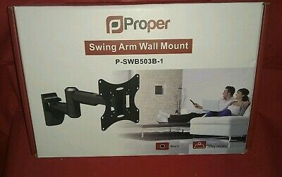 Proper Swing Arm Wall Mount White P SWB503W-1 for up to 28""