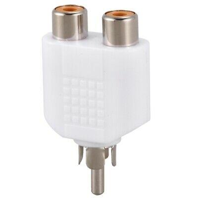 RCA Y Splitter AV Audio Video Plug Converter Male to Female