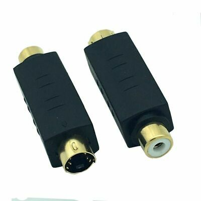 S-Video Male to RCA Female Composite Video Adapter Plug