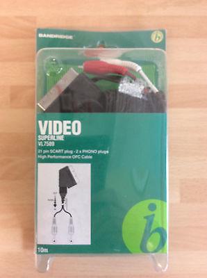 Bandridge Audio Video Cable Lead, Scart Plug to 2x Phono