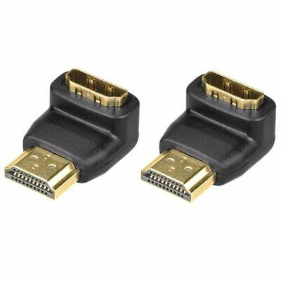 2-Pack 3D and 4K Supported HDMI 90 Degree Male to Female