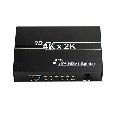 4K 3D Hdmi Splitter Amplifier 1 in 4 Out Switch for Audio