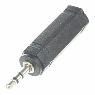 6.35mm 1/4 inch Female Socket to 3.5mm 1/8 inch Male Plug