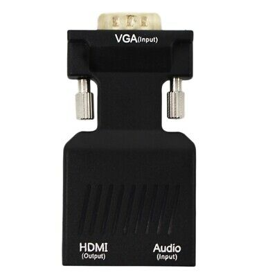 VGA Male to HDMI Female with Audio Adapter Support P