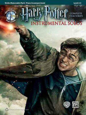 Harry Potter Instrumental Solos for Strings Violin, Book &