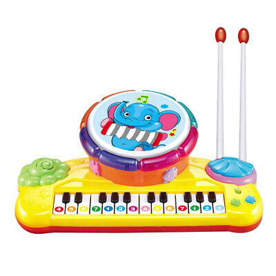 1X(Multi-Funct ional Drum Toy Set for Kids, with 2