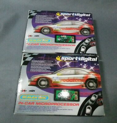 2 x Scalextric C Sport Digital Saloon In-Car Chip Retro