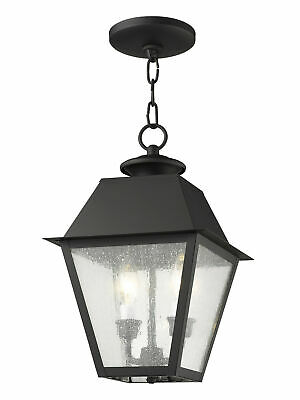 Livex Lighting  Mansfield Outdoor Pendant - Black