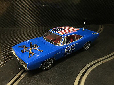 PIONEER SLOT CAR NEW UNBOXED DODGE CHARGER BLUE GENERAL