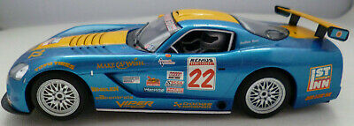 Scalextric C Dodge Viper Blue 22 Working Lights 1:32