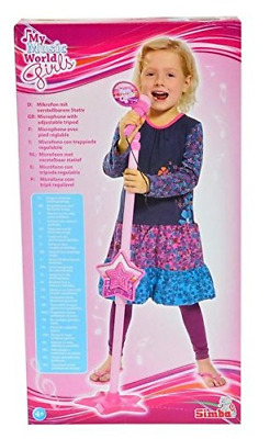 Simba  Girls Microphone & Stand with Built in CD