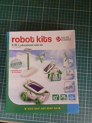 Solar Science Robot Kits 6 In 1 Educational Solar Kit never