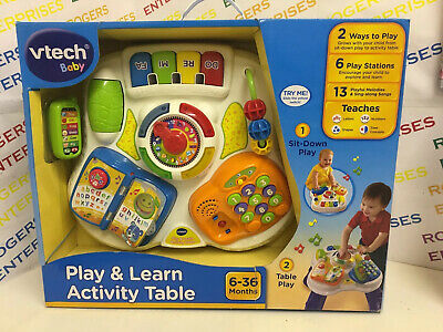VTech Baby Play & Learn Activity Table NEW Box Torn
