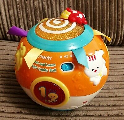 Vtech crawl and learn bright lights ball in very good