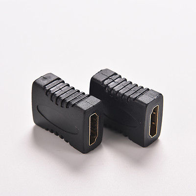 2X hdmi Female to Female Coupler Extender Adapter Connector