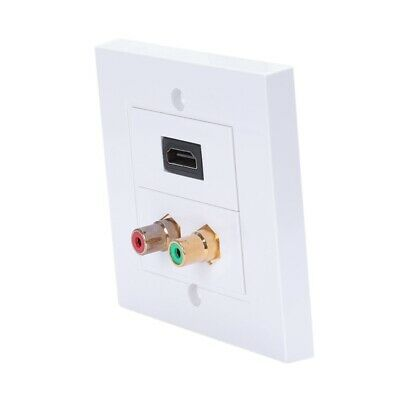 White Color Hdmi 2 Rca Wall Panel 86Mm Plate Audio Video