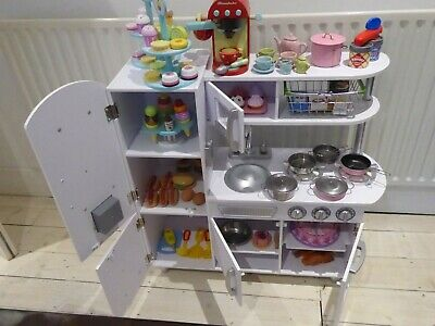 KidKraft  White Vintage Wooden Pretend Play Toy Kitchen