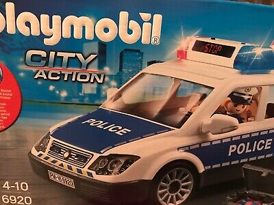 Playmobil  City Action Police Car with Lights and Sound
