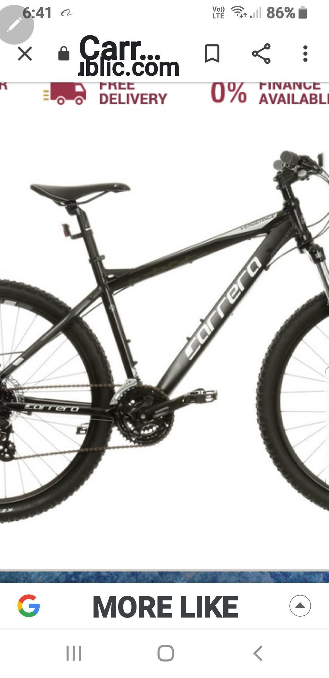 Carrera mountain bike mint condition