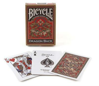 1 Deck Of Gold Dragon Back Bicycle Playing Cards Standard