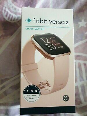 Fitbit Versa 2 Smart Watch, Pink rose gold bnib new