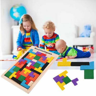 Wooden Tangram Brain Teaser Puzzle Toys Tetris Game