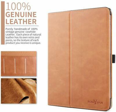 iPad Pro 11 Case Genuine Leather Smart Folio Cover With