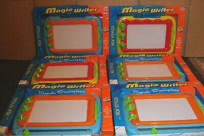 6 x CHILDREN'S MAGIC WRITER MAGNETIC DRAWING SCRIBBLING
