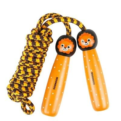 MOONDOG Children's Sports Jumping Rope Cute Wooden Toys Lion