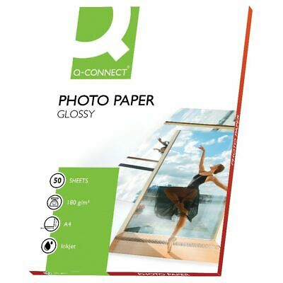 NEW! Q-Connect A4 Gloss Photo Paper 180gsm Pack of 50