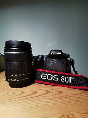 Canon EOS 80D 24.2MP Digital SLR Camera - with Canon