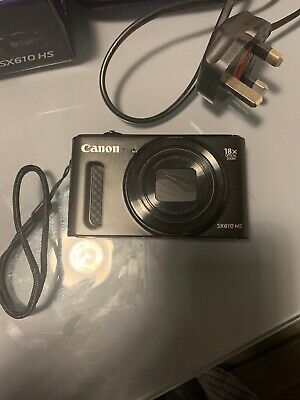 Canon PowerShot SX610 HS 20.2MP Digital Camera - Black