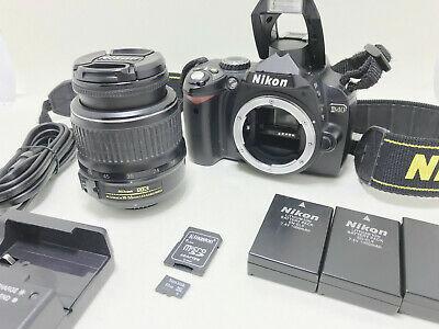 Nikon D40 6MP AF-S DX Nikkor mm Lens ED DSLR 32GB Low