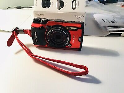 Olympus Tg-5 Digital Camera Red (Opened but Never Used!)