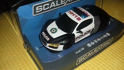 Scalextric Audi R8 Police Car (Black & White) C NEW