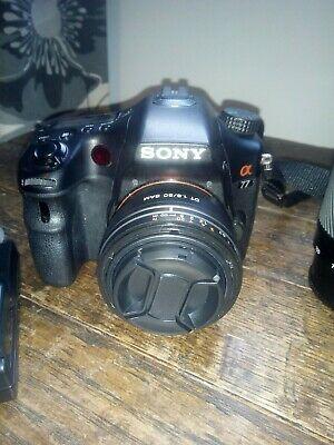 Sony Alpha SLT-A77V 24.3MP Digital SLR Camera - Black (Body