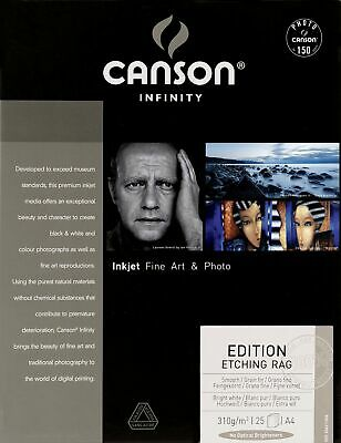 Canson Infinity Edition Etching Rag 310gsm, Natural White