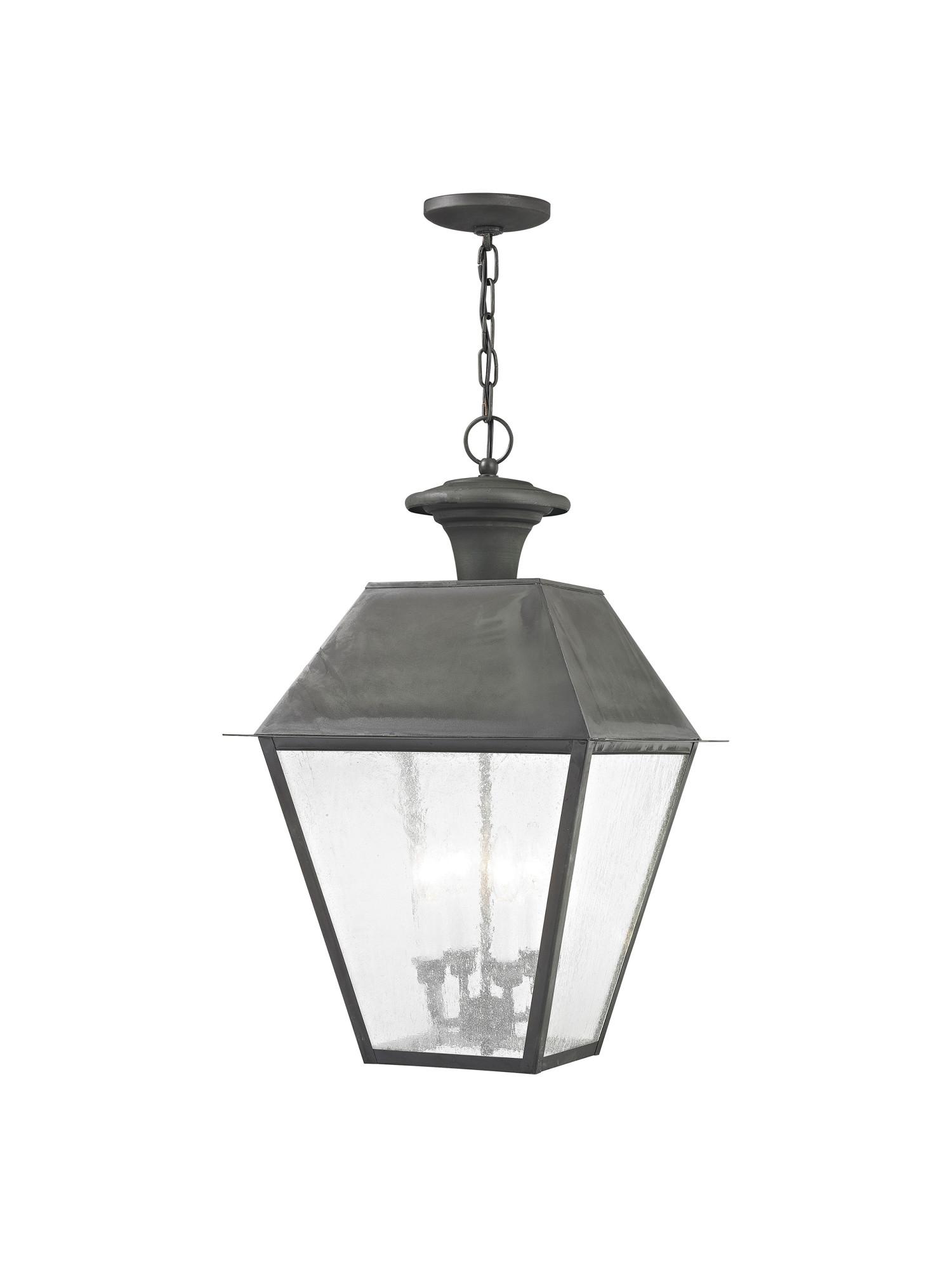 Livex Lighting  Mansfield Outdoor Pendant - Charcoal