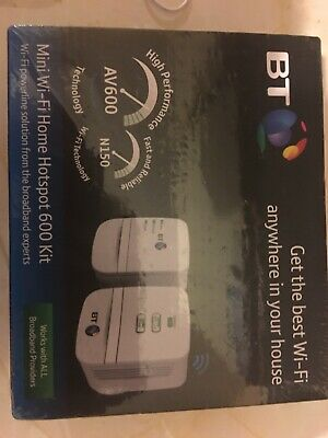 BT Mini Wi-Fi Home Hotspot 600 Wireless Powerline Adapter