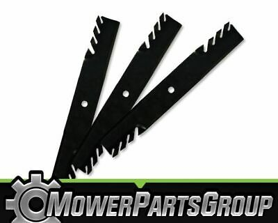 """D) Toothed Blades Fits John Deere LT166 with 46"""" deck"""