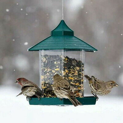 New Waterproof Gazebo Hanging Outdoor Feeder Bird Wild Decor