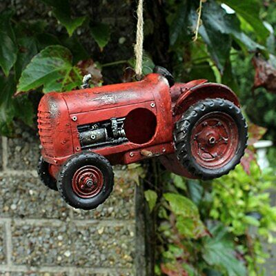 Novelty authentic old red Tractor bird house nest box farmer