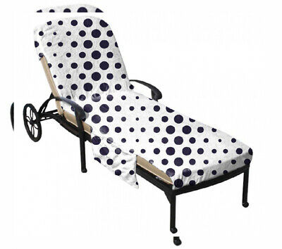 QCWN Beach Chair Cover, Patio Chaise Lounge Covers with Side